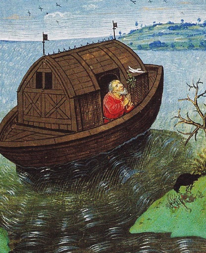 Noe eliberand porumbelul