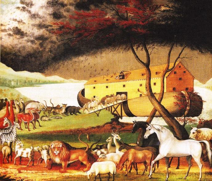 Animalele urcand pe Arca Lui Noe. Edward Hicks