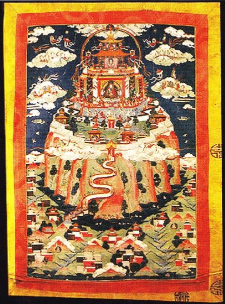 Pictura Budista. Bierica de pe muntele Meru