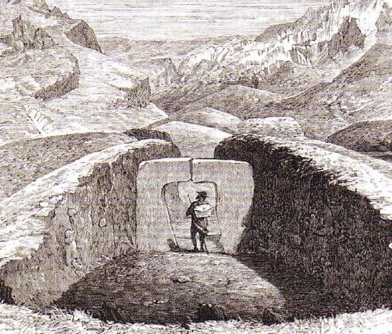 Gravura Dolmene din Andaluzia - 1868