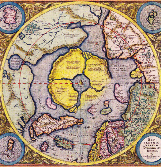 Harta Arctica de Gerardus Mercator