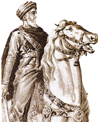 hassan ibn Sabbah pe calul sau alb