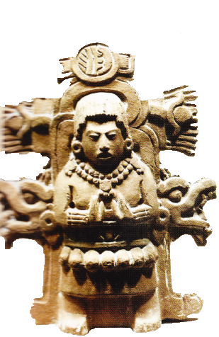 Preot mayas din piatra sculptat