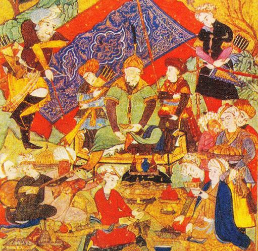 Timur la un ospat din suburbia Samarcandului