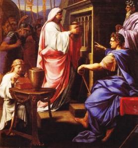Caligula punand Cenusa mamei si a fratelui Nero in cavoul stramosesc