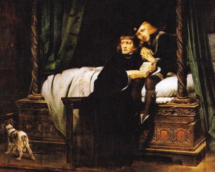 Portret cu copiii lui Eduard al IV-lea in Turn (realizat de de Paul Delaroche. 1831)