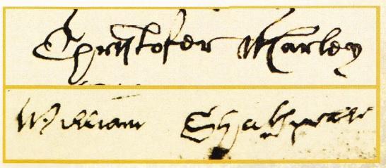 Mostre ale scrisului lui Marlowe si Shakespeare