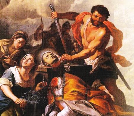Mucenicia Sfantului Ianuarie ( pictura de Girolamo Pezzi, 1727)
