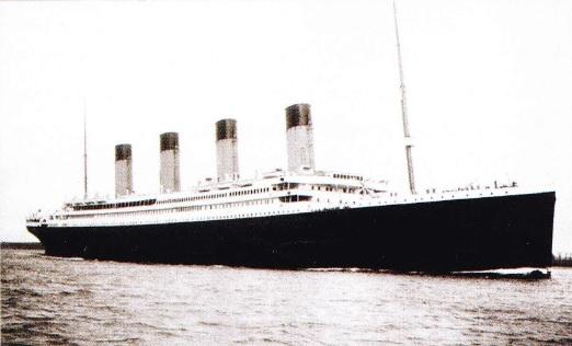 Vasul Titanic la prima calatorie