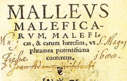"Coperta cartii: ""Ciocanul Vrajitoarelor"" (1486)"