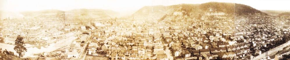 Johnstown renăscut. Panoramă a orasului, anul 1904