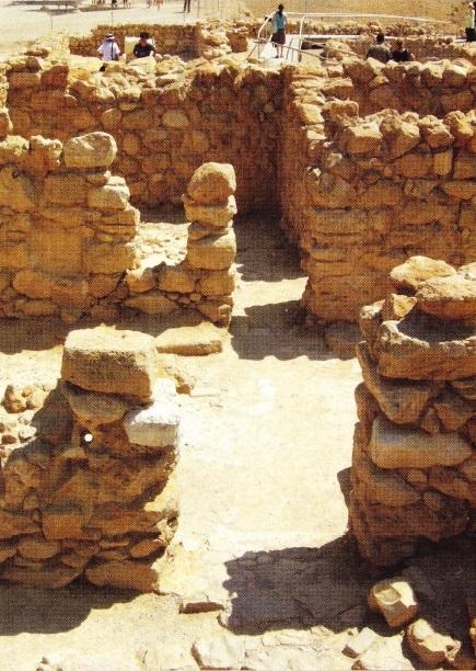 Ruine din partea de vest a clădirii principale din Qumran
