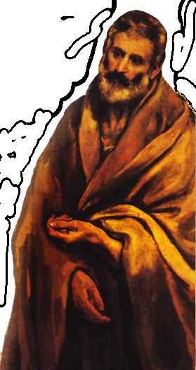 Sfantul Petru - pictură de El Greco (1580-1586)