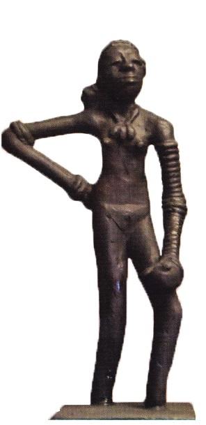 Statueta unei dansatoare gasita in Mohenjo-Daro