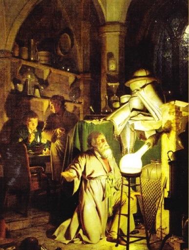 Alchimist in cautarea Pietrei Filozofale