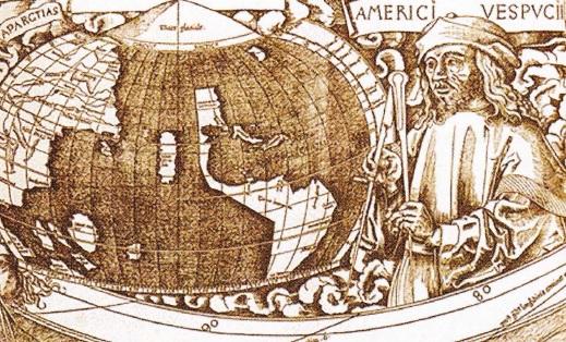 Amerigo Vespucci pe harta lumii