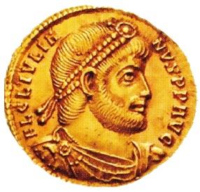 Moneda cu chipul împăratului Iulian