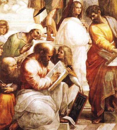 Pitagora. Fresca de Rafael. Palatul din Vatican 1508-1511