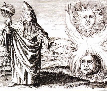 Hermes Trimegistul - gravura de Daniel Stolzius von Stolzenberg