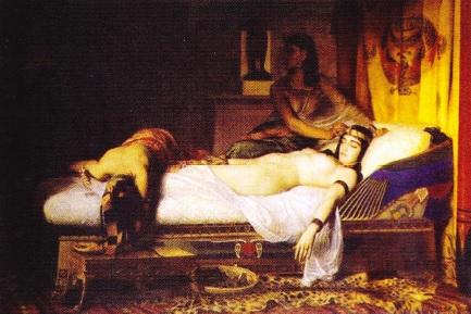 tablou cu moartea Cleopatrei de Jean Andre Ricksen
