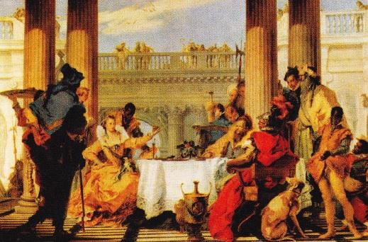 Cleopatra si Cezar - Jean Leon Gerome. 1866