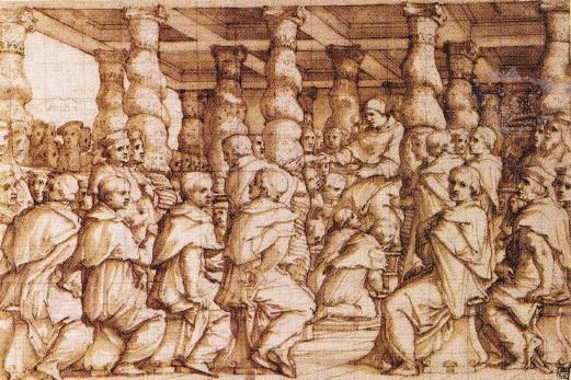 Papa Leon al X-lea desemnand cardinalii