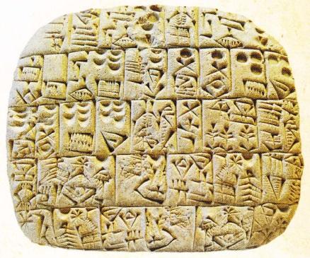 Scriere cuneiforma din Sumer