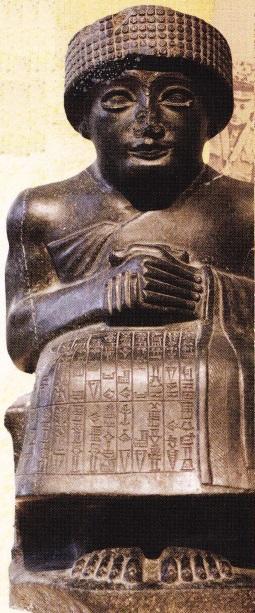 Statuia lui Gusdea. Conducatorul orasului sumerian Lagas. 2120 i.Hr