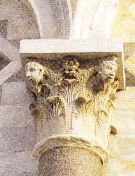 Capitelul coloanei - Turnul din Pisa