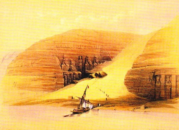 Abu Simbel - Pictura de David Roberts (1838)