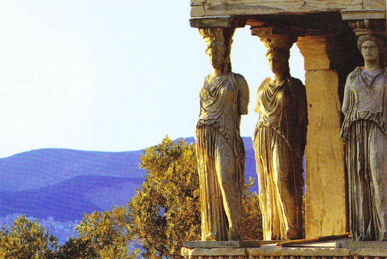 Cariatide. Acropola. Atena