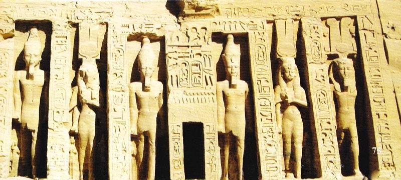 Fatada templu mic Abu Simbel