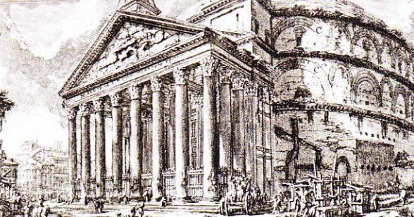 Giovanni Battista Piranesi. Pantheon, Roma, sec. al VIII-lea
