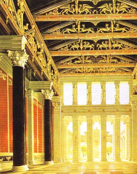Interiorul holului acropolei din Atena (Karl Friedrich Schinkel - 1824)
