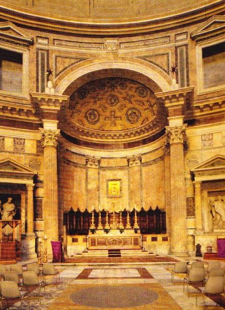 Interior al Panteonului din Roma