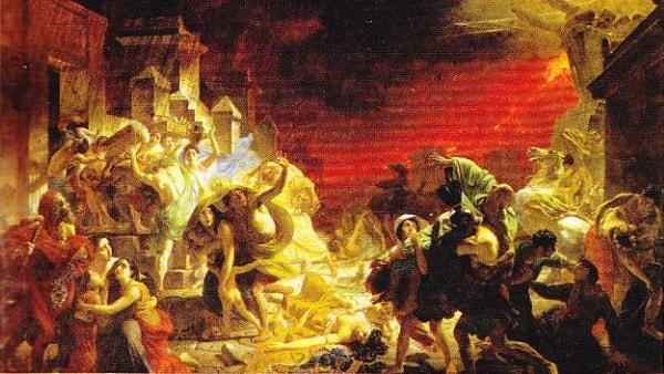 Ultima zi a Pompeiului. (pictura de K. Briulov), 1833