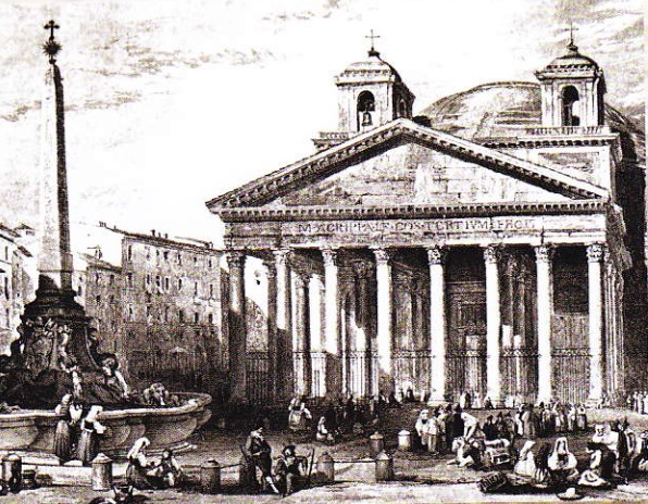 Panteon-Roma (desen de B. L. Leitch 1835)