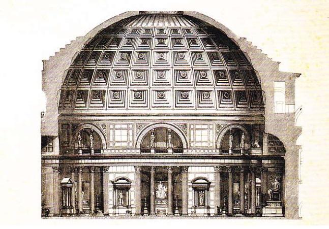 Panteonul. Sectiune. Desen
