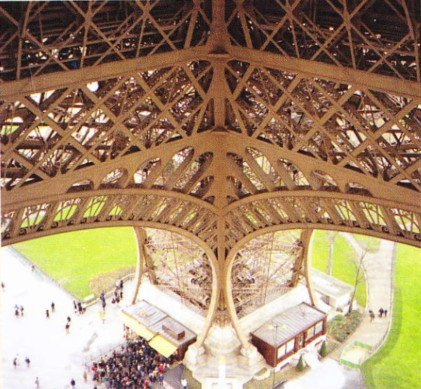 Un pilon al Turnului Eiffel din Paris
