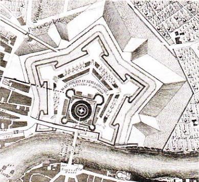 Castelul Sfantului Inqer (5ant'Anqelo).  Plan