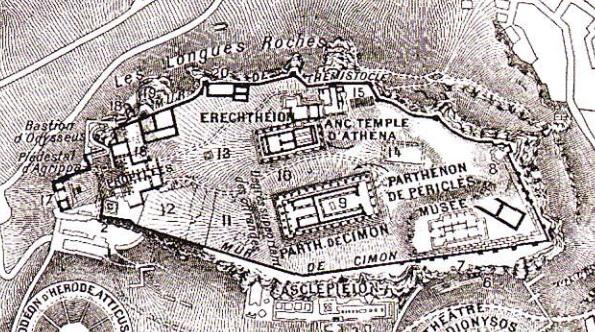 Planul acropolei din Atena