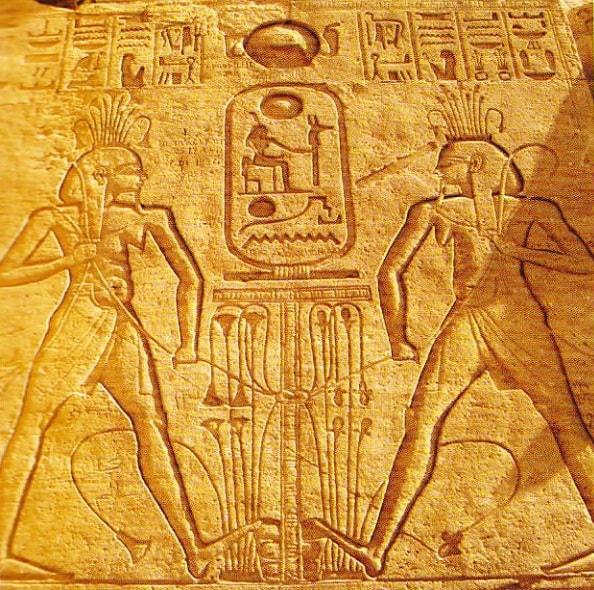 Relief in fata templului Abu Simbel