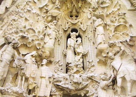 Sagrada Familia. Basorelief pe faţadă. Spania