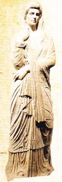 Statuie funerară găsită in ruinele de la Pompei