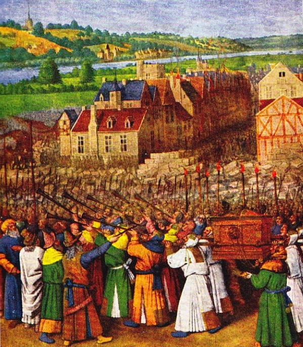 Caderea Ierihonului. (pictura de Jean Fouquet)