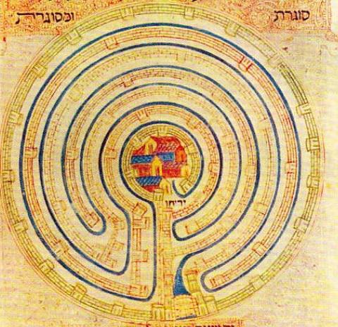 Labirintul zidurilor cetatii Ierihonului