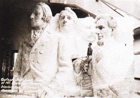 Modelul Mount Rushmore. Anul 1936.