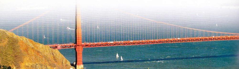 Podul Golden Gate vazut din elicopter