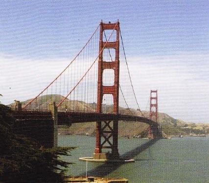 Podul Golden Gate vazut de la distanta