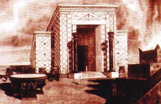 Reconstructia Templului lui Solomon. Fragment
